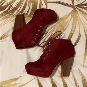 Bella Marie Lace Up Booties